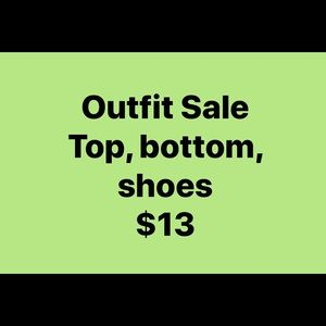 Outfit sale! Top, bottom, shoes